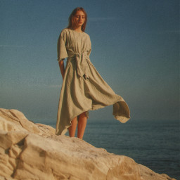 loneliness woman sea freetoedit