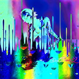 freetoedit sticker umbrella reflection horror zombie picsart colorinme srcdoodleumbrellas doodleumbrellas