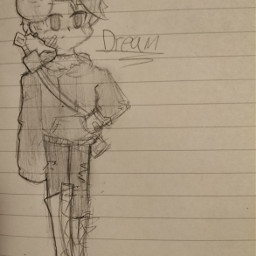 drem dreamsmp mask minecraft manga art drawing local