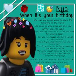 freetoedit ninjagoheadcanons nya ninjagonya birthday