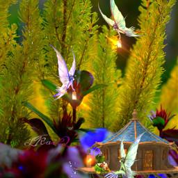remixedit inthenight elves fairies sleepingbaby fantasy fairytale magical night colorinme freetoedit