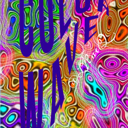 freetoedit graphic neon outline colorful swirl cover molten