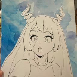 art painting anime sandayo mha nejire hado classb
