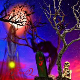 freetoedit halloween event illustration poster inthedark scary nightmare ghosts tombstone deadtrees moonlight fullmoon colorinme eccelebratinghalloween celebratinghalloween #halloween #halloween2021